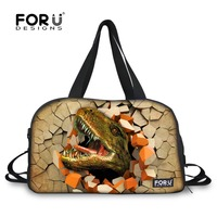 FORUDESIGNS Large Sport Bag Men Training Bag for Gym Male Female Fitness Durable Mutifunction Dinosaur Printing Athletic Bag