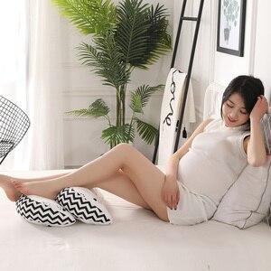 Image 2 - Ayarlanabilir 43*75*10cm hamile kadınlar uyku yastığı bel göbek destek yastık pedi yumuşak gebelik yastığı yan uyuyanlar yastık
