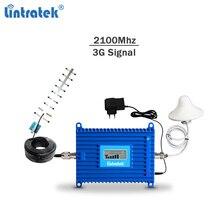 Lintratek repetidor de señal 3G WCDMA 2100, celullar amplificador de señal, GSM, teléfono móvil, AGC 3G 2100, kit completo