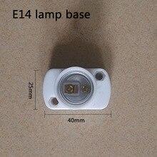 10pcs/lot E14/E27 Socket White Rectangle Shell E14/E27 Lamp Holder For LED Light, No Greater Than AC250V 60W