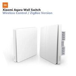Xiaomi Aqara Wall Switch Smart Light Control ZigBee Version Wireless Connection Single Key Control APP Remote smart home Kit