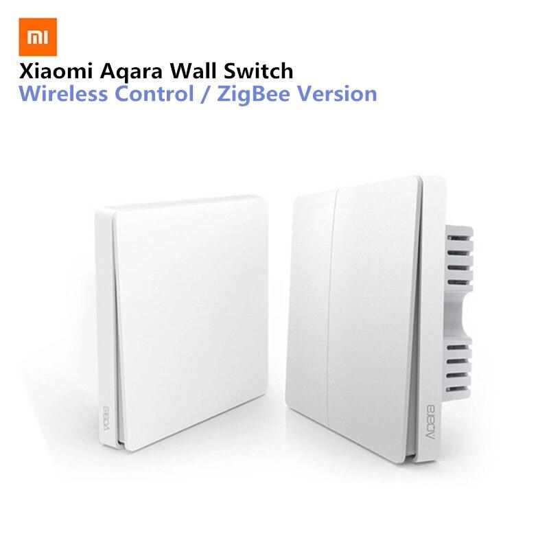 Xiaomi Aqara interruptor de pared Control de luz inteligente ZigBee versión conexión inalámbrica sola tecla Control Remoto APP Smart home Kit