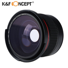 K & F CONCEPT 58 MM 0.35X HD Fisheye Objectif Grand Angle + Macro Close Up Lens pour Canon et Nikon