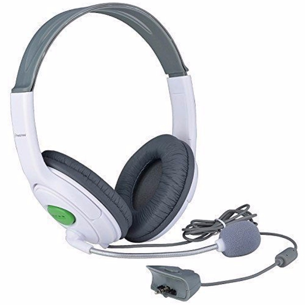 OOTDTY Headphone Earphone White Big Gaming Chat Headset With MIC Microphone For Xbox 360 Live