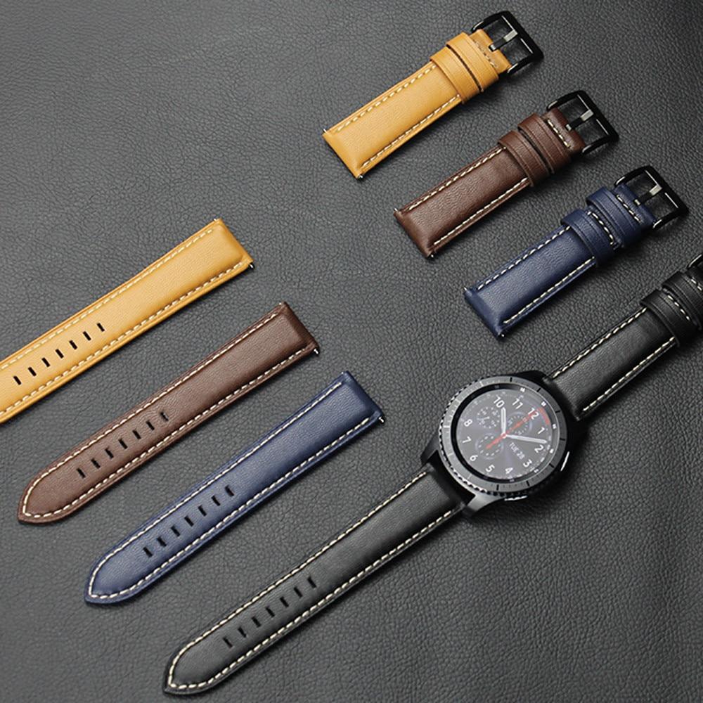 Prix pour Feitong Nouveau Mode De Luxe Marque PU En Cuir Montre Bracelet Sangle Bande Bracelet Pour Samsung Gear S3 Frontière/Classique