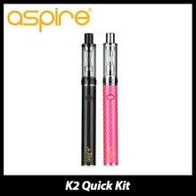 100% Aspireแท้K2ด่วนบุหรี่อิเล็กทรอนิกส์เริ่มต้นด้วยชุด1.8มิลลิลิตรถังK2เครื่องฉีดน้ำและ800มิลลิแอมป์ชั่วโมงK2แบตเตอรี่สมัยVaporizerชุด