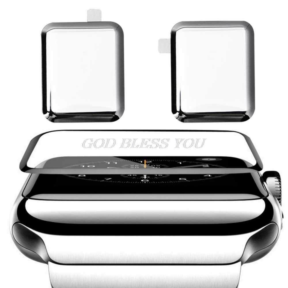 For iWatch Apple Watch Series 1/2/3/4 9H 3D Curved Full Coverage Tempered /Soft TPU Glass Screen Protective Film 38/ 42/40/44mm