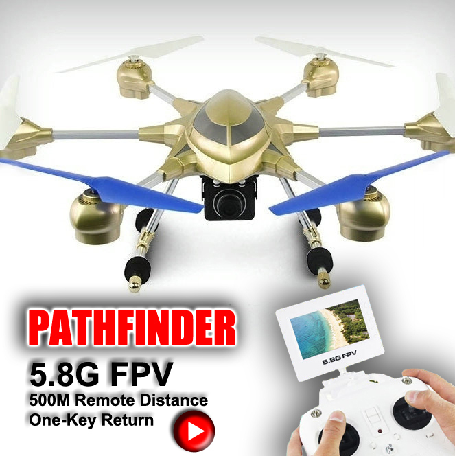 RC Quad Copter Drone 54CM Metal HJ816 6-axis Gyro Drone With LED Light 5.8G FPV HD Camera 2MP Headless Mode