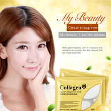 10pcs=5packs Gold Crystal Collagen Eye Mask Eye Patches Eye Mask For Face