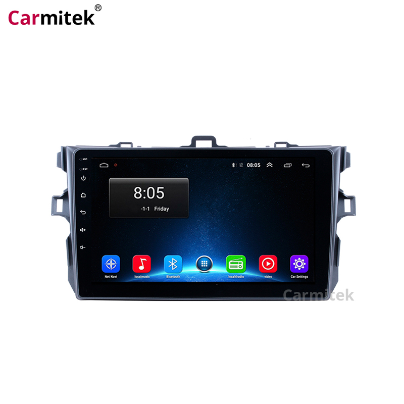 Car Multimedia GPS Navigation system Touch Screen Radio Android 2 din for Toyota Corolla 2007 2008 2009 2010 2011 2012 head unit