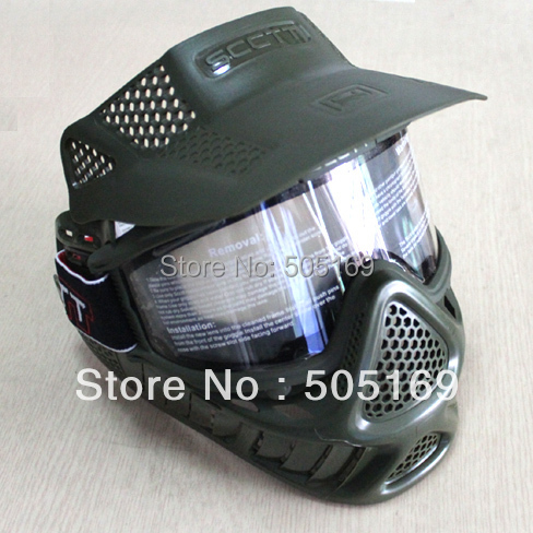 Tactical SCCTT Military Full Face Mask Airsoft(Olive Color) Paintball New