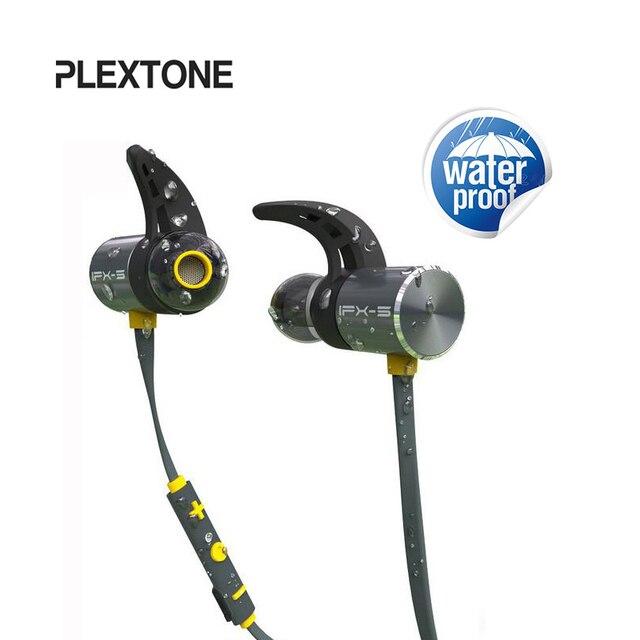 PLEXTONE IPX5 Водонепроницаемый Bluetooth наушники двойной Батарея Беспроводной аурикулярная Магнитная Спорт fone де ouvido с микрофоном для телефона