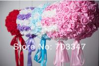 11 28cm Foam Rose Kissing Ball Artificial Decorative Flowers Wedding Centerpiece Foam Flower Ball
