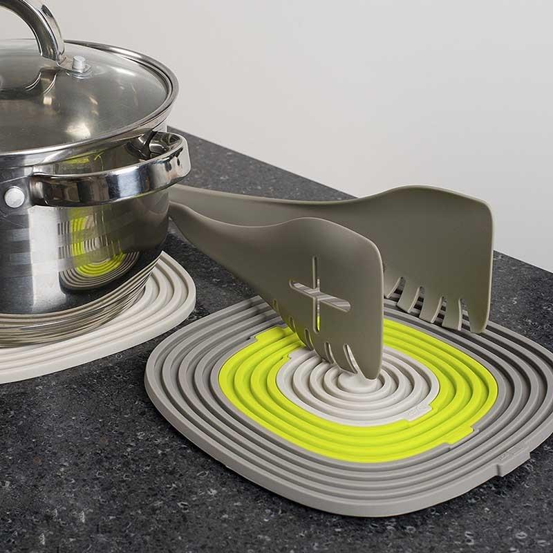 TEENRA 3Pcs / set Silicona Pot Holder Plate Mat Mat Pad Pad - Cocina, comedor y bar - foto 6