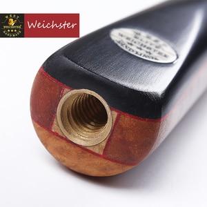 Image 4 - Weichster One 1Piece Handmade English Pool Cue Eucalyptus Burl Wood 8.0mm 8.5mm Ebony Cue with Case Set