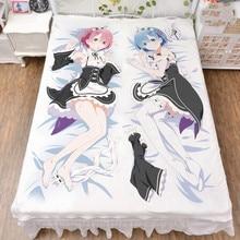 цена на Re zero kara hajimeru isekai seikatsu Ram Rem Anime Otaku Bed sheet Blanket