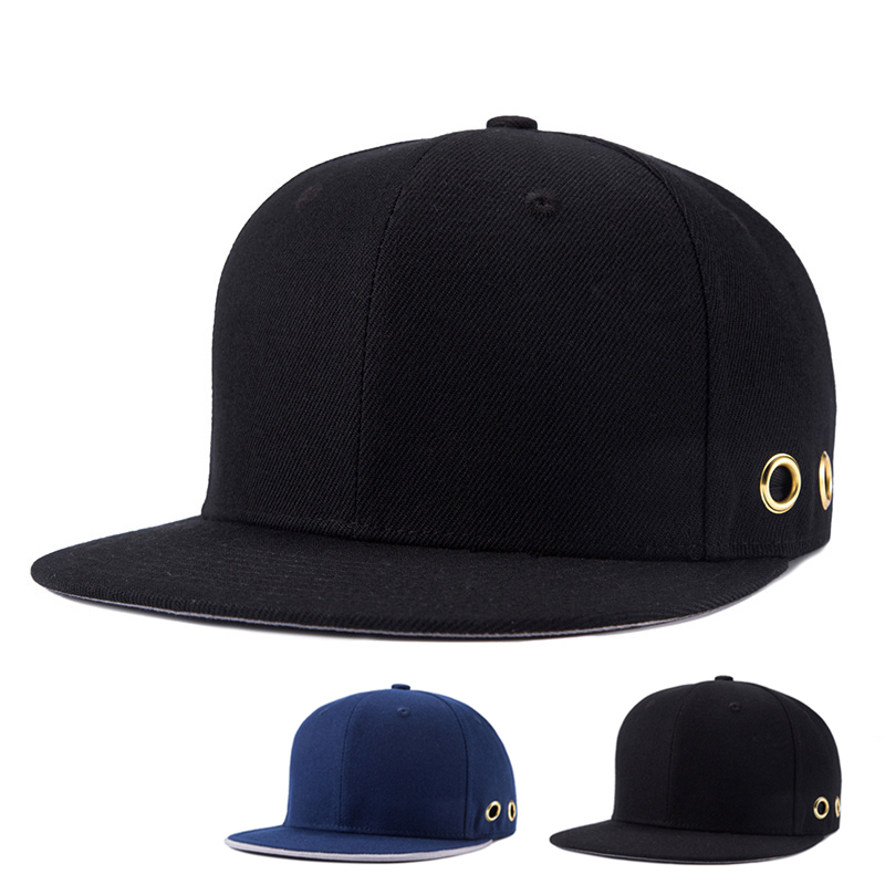 Prix pour 2016 Solide Os Snapback Caps Gorra Noir Snapback Chapeaux Pour Hommes Marque de Haute Qualité Unisexe Noir Hip Hop Casquette de baseball