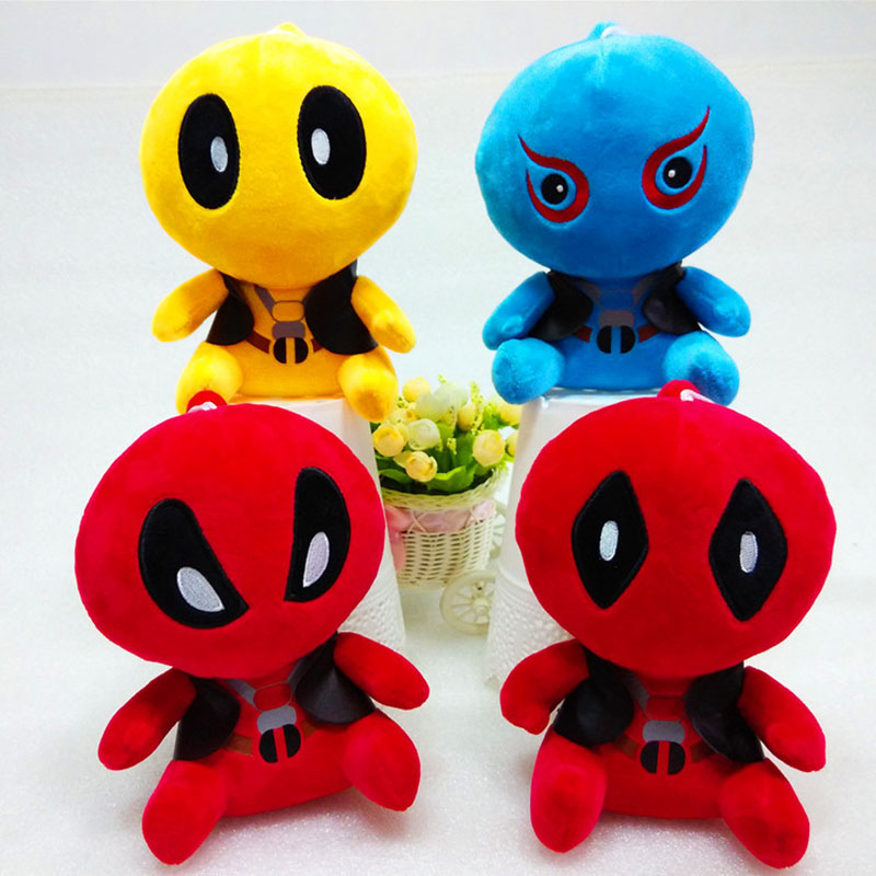 4pcs/lot Q Version 20 cm X-Men echtes Deadpool Plush puppe Deadpool action-figuren Marvel film 8 Doll mit tag