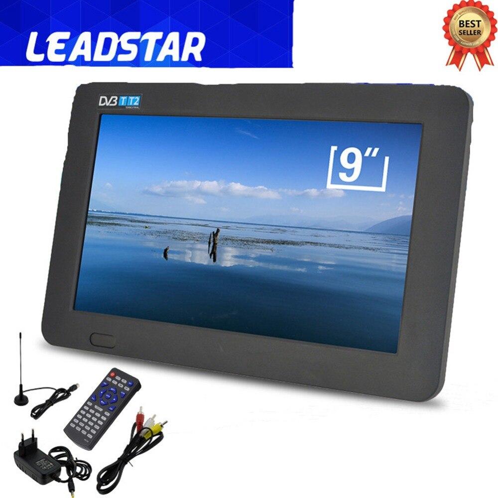 9 TFT LED DVB-T2 DVB-T de Televisão Digital Analógico 1080 p Portátil Carro TV com Controle Remoto Apoio TF Cartão USB -limitado Uso País