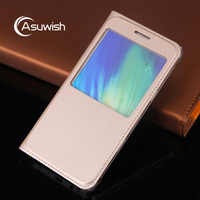 Flip Cover Leather Phone Case For Samsung Galaxy A3 A5 A7 2016 A 3 5 7 SM A310F A510F A710F SM-A310F SM-A510F Transparent Window