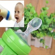 Baby Baby Siliconen Zuigfles Tepel Lepel Rijst Pasta Lepel Eten Feeder
