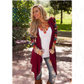 Cardigan Women Knitted Sweater Fashion Aztec Long Sleeve Striped Tops Casual Long Cardigans Air Conditioning Asymmetrical Shirt