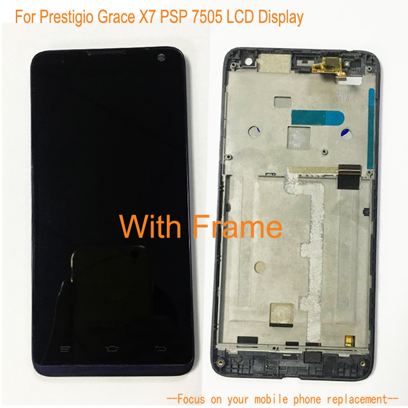 With Frame LCD Display For Prestigio Grace X7 PSP 7505 + Touch Screen Dightizer Assembly Replacement For Prestigio PSP 7505With Frame LCD Display For Prestigio Grace X7 PSP 7505 + Touch Screen Dightizer Assembly Replacement For Prestigio PSP 7505