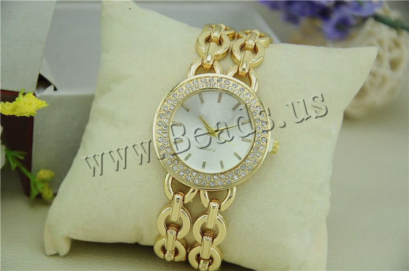 rhinestone watch 2-strand gold color plated quartz wristwatch women top luxury relogio feminino 2018 fashion lady elegant watch top luxury crystal brief design lady elegance slim strap leather wristwatch waterproof women quartz watch relogio feminino gift