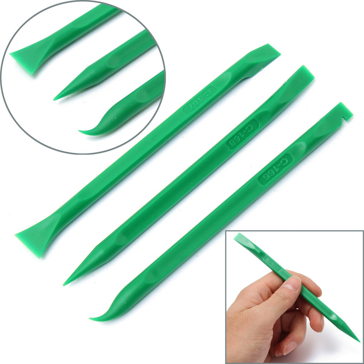 Durable 3 pcs/set universal Spudger Mobile Phone Opening Repairing Tool Pro DIY for iPhone for Smart Cellphone Tablet all Device