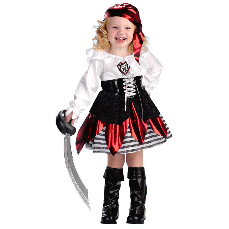 Infant Pumpkin Costume | New Fancy Infant Party Dresses Pirate Children Halloween Party Pumpkin Costume Girl Dress For Kid Fantasia Cosplay Costume