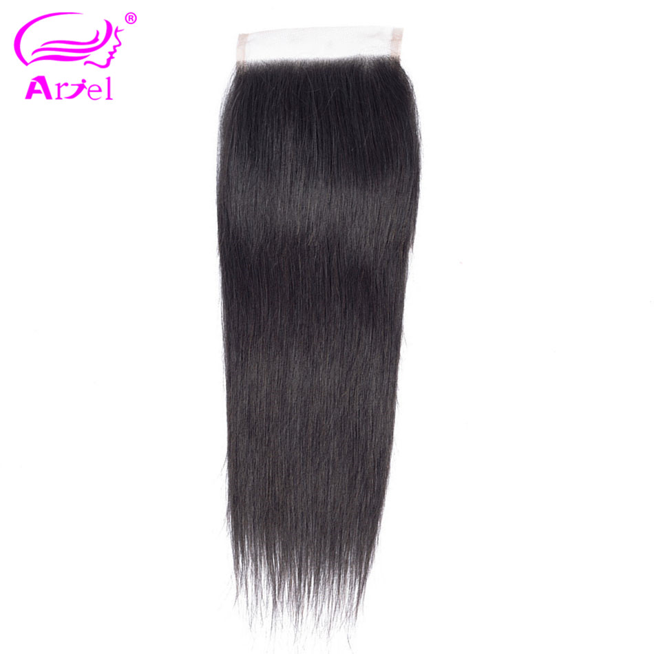 Ariel Non-Remy Lace Closure Mongolian Straight Natural-Color 8-22inch 100%Human-Hair