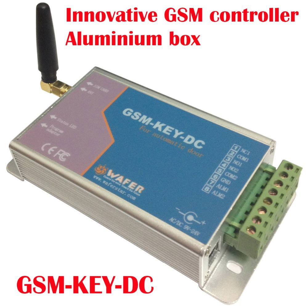 GSM-KEY-DC200 Aluminium box GSM controller SMS control box relay output controllerfor sliding gate and automatic door via gsm key dc200 direct factory gprs server supported sliding gate gsm security remote access opener maximum working phone 200