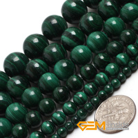 Malachite Round Grade A Beads Natural Stone Bead DIY Bead For Bracelet Necklace Making Strand 15