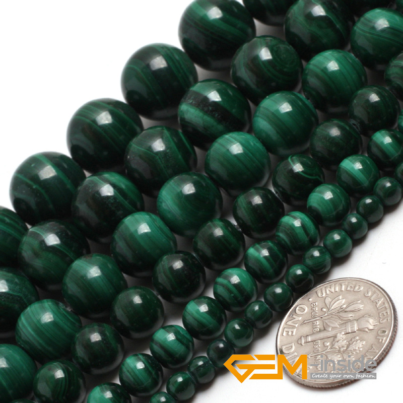 Malachite: Round Grade AA Beads Natural chrysocolla Stone Beads DIY Beads For Bracelet & Necklace Making Strand 15 Inches ! цена 2017