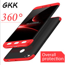 GKK Luxury Hard Shockproof 360 Protection Shell Case For Xiaomi Redmi NOTE 4 4X Cover For Redmi NOTE 4X Pro Back PC Case