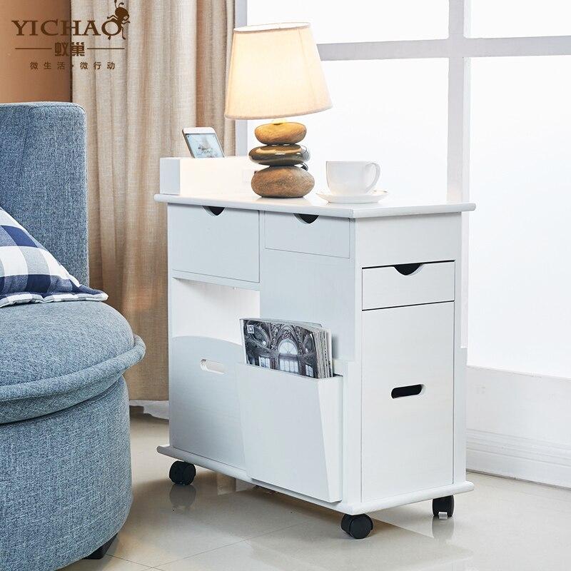 Meuble de rangement coiffeuse bijoux canapé Mobile miroir latéral tiroirs meubles Table basse table basse mesa muebles