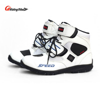 Riding Tribe Motorcycle Men's Women Ankle Boots Motorbike Riding Protective Non slip Breathable Off Road Moto Racing Shoes A005