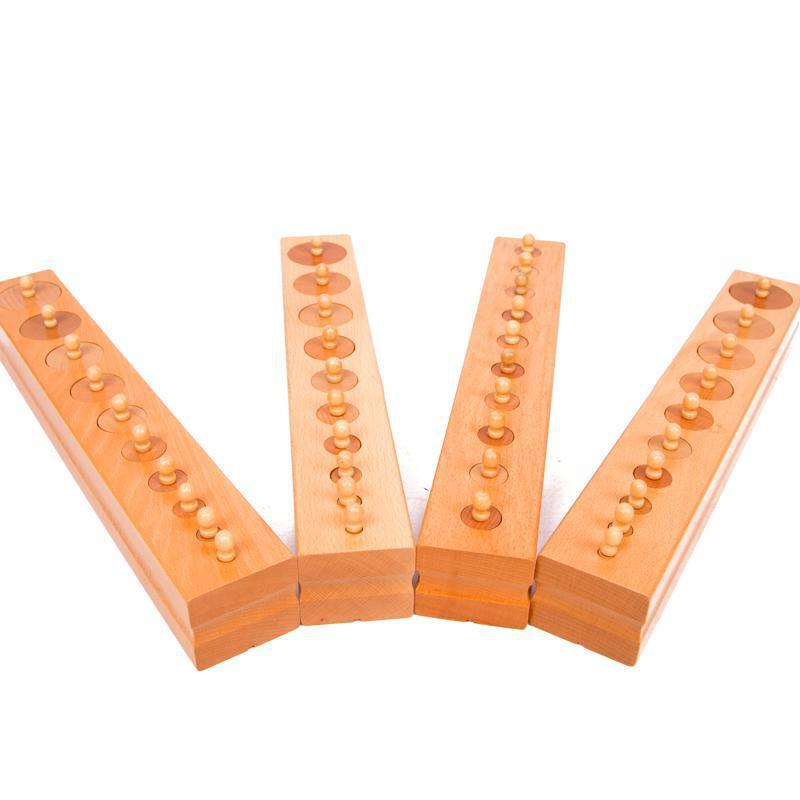 Montessori professionnel douille cylindre 4 pièces grande taille blocs d'enseignement bébé éducatif apprentissage précoce enfants cadeau d'anniversaire