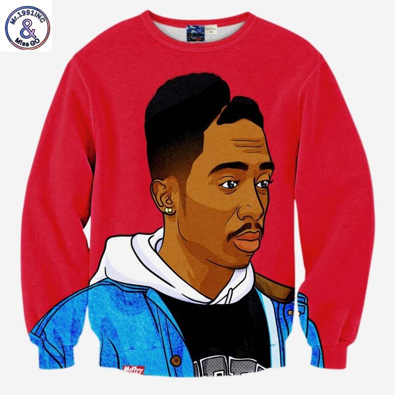 Mr.1991INC Hip Hop felpa da uomo 3d stampa rap singer Tupac 2pac moda maglie felpe vestiti belli sottile sottile pullover