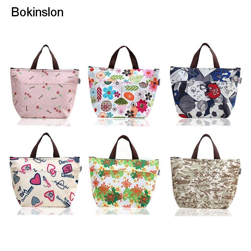 Bokinslon женщина сумки для обедов Мода Холст смешанные цвета дамские сумочки небольших размеров практические большой ёмкость женская сумка