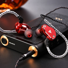 High quality Headset VK6 4DD In Ear Earphone HIFI DJ Running Sport Earphone Hybrid Headset Bass Earbuds With Mic Replaced Cable цена