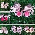 De la niña barato zapatos de la flor, Sapatos bebé, bebés recién nacidos zapatos, infantil de la muchacha calzado, suave Chaussure fille, zapatos de bebé de la bailarina