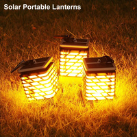 Led Luce Solare Esterna Impermeabile Pannello Solare Portatile Lanterne Solari Led Bianco Caldo Led di Paesaggio Luce Solare del Giardino