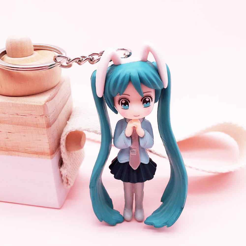 Bonito menina guerreiro animação chaveiros 3d pingente criativo boneca chaveiro senhora saco pingente chaveiro coleção suprimentos