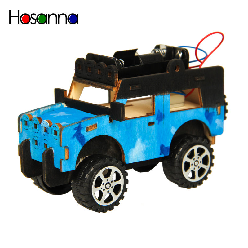 Kids DIY Jeep Car STEM Science Toys Kit Electric Vehicle Model Experiment Game Learning Physics Educational Toys For Children