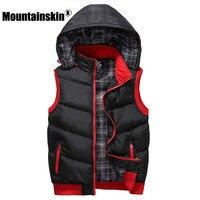 Mountainskin 5XL Winter Weste männer Jacke Sleeveless Beiläufige Weste herren Mantel Slim Fit Paar Westen Männliche Jacke Herbst SA373