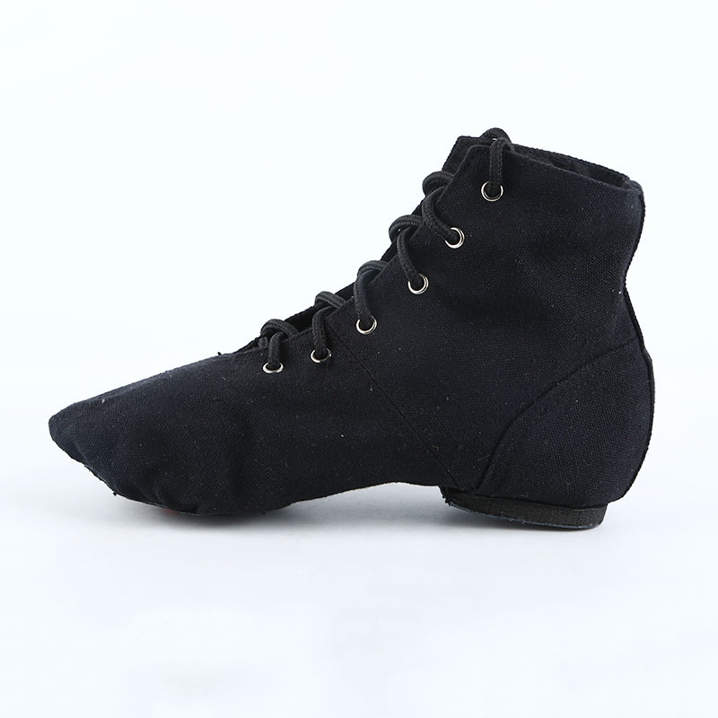 Canvas Shoes High Top Dance Shoes Woman Breathable Soft Bottomed Ballet Sports Shoes Jazz dance Training Boots Shoes Sneakers