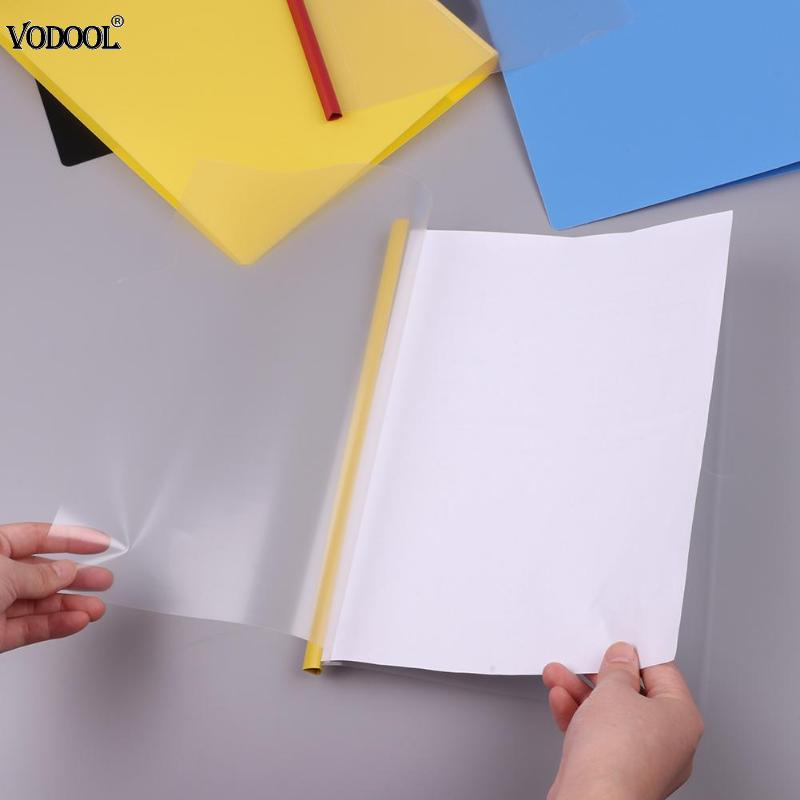VODOOL 10pcs A4 Transparent File Folder Document Paper Notebook Boob Cover Insert File Presentation Folder Bag Office Supplies deli a3 data document presentation folder 297 420mm 60 40 page transparent folder vertical insert document booklet