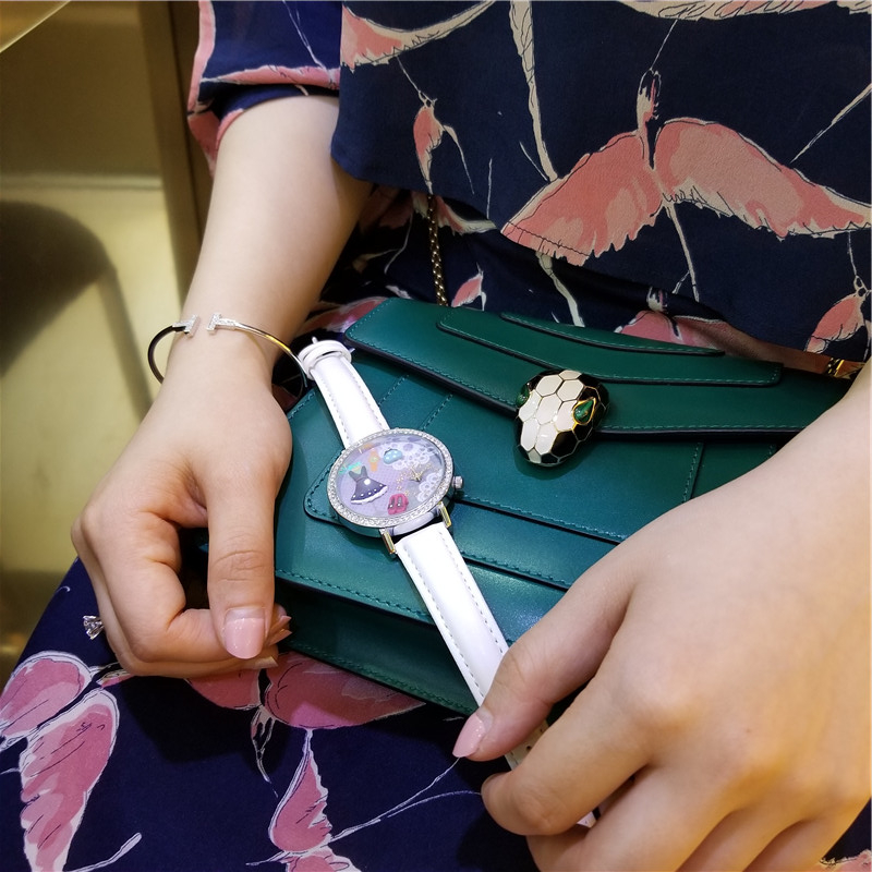 MISS KEKE klei schattige 3D mini wereld meisjesjurk Strass horloges - Herenhorloges - Foto 3