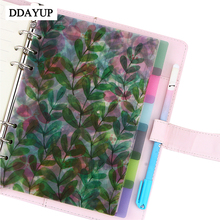 A5/A6/A7 6 Holes Colored index Page Spiral Book Loose Leaf Notebook Category Page Office Planner Accessories ezone 5 sheets a6 6 holes notebook s index page paper separator page loose leaf book category page planner stationery papelaria
